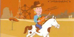 Le CD Single 2 titres «Moi j'aime la country» est en vente