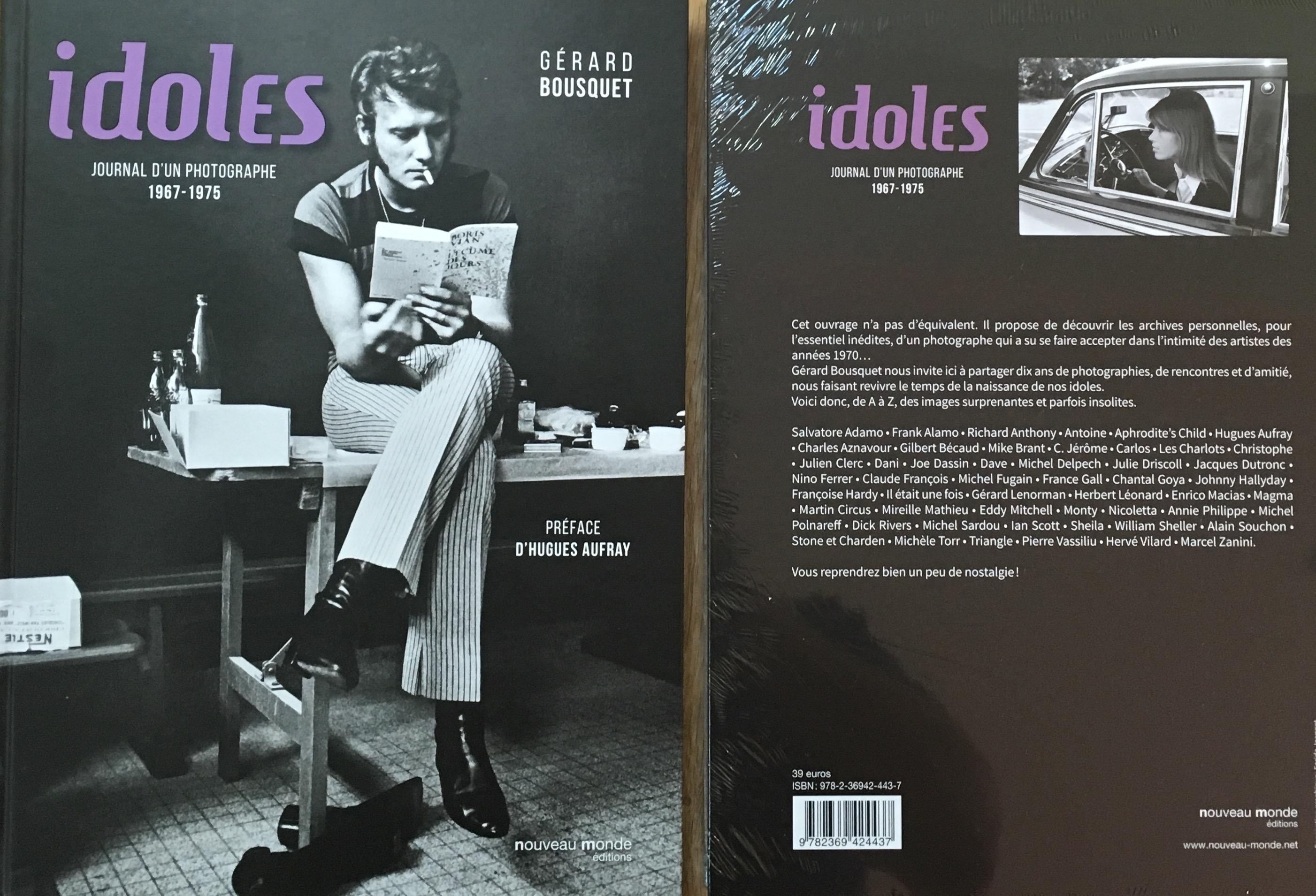 Livre photos «Idoles» Gerard Bousquet